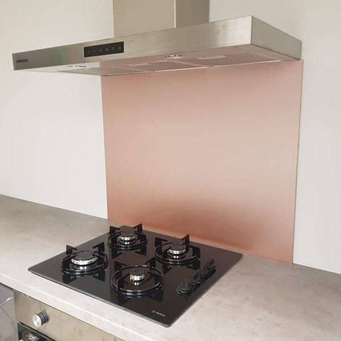 Crédence Composite Aspect Rose Brossé - Hauteur 20 cm x Largeur 70 cm