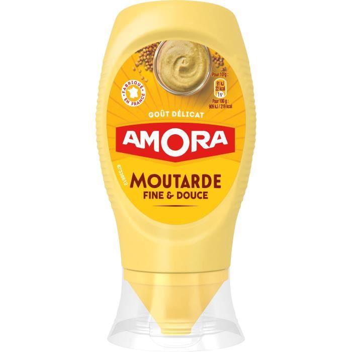 AMORA Moutarde Douce Flacon Souple - 260 g