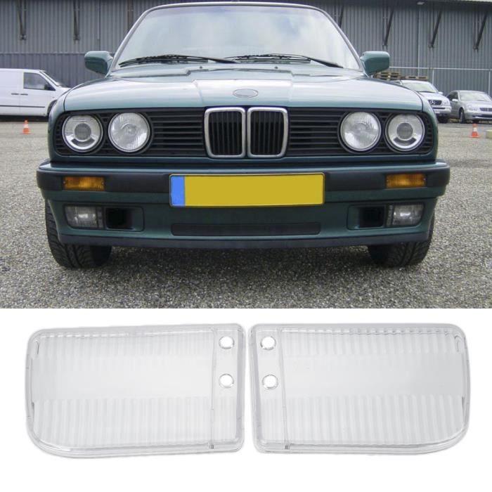 2 PCS pour BMW E30 1984-1991 Phare avant phare clair lentille couvercle de la lampe