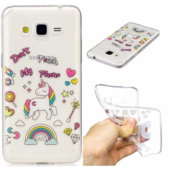 Jianling Coque Pour Samsung Galaxy Grand Prime G530H G5308W Cheval Design souple Transparent TPU Silicone208