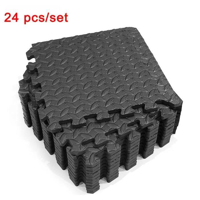 24 pièces-ensemble tapis de jeu pour enfants EVA mousse carreaux de verrouillage revêtement de sol en mousse Eva tapis [CF6745E]