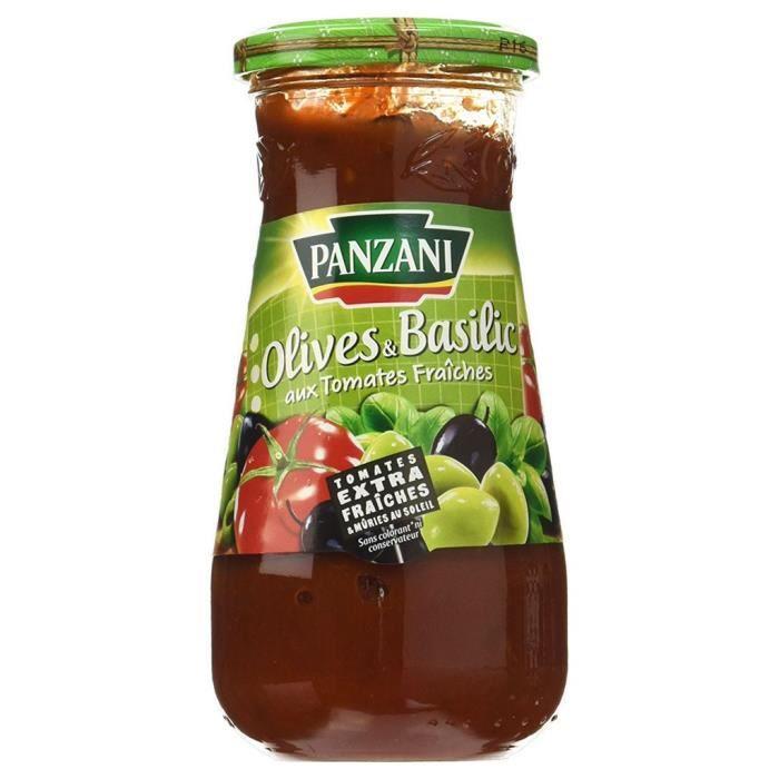 Panzani Sauce Tomates Olives et Basilic 400g (lot de 6)