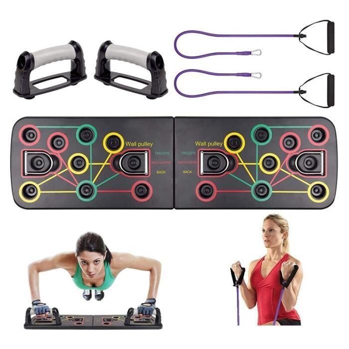barre pour traction -Push up Board 9 en 1 musculation maison complète Fitness équipement d'exerc...- Modèle: Black - ZOAMFWZDA07416