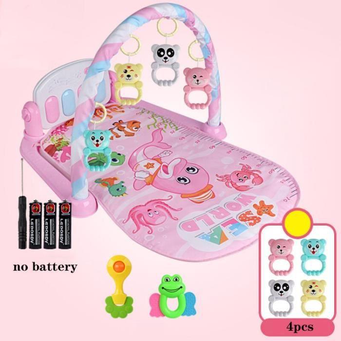 Tapis d'éveil,Tapis de jeu bébé 3 en 1 jouets de gymnastique bébé éclairage doux hochets jouets musicaux pour bébés jouets - Type H