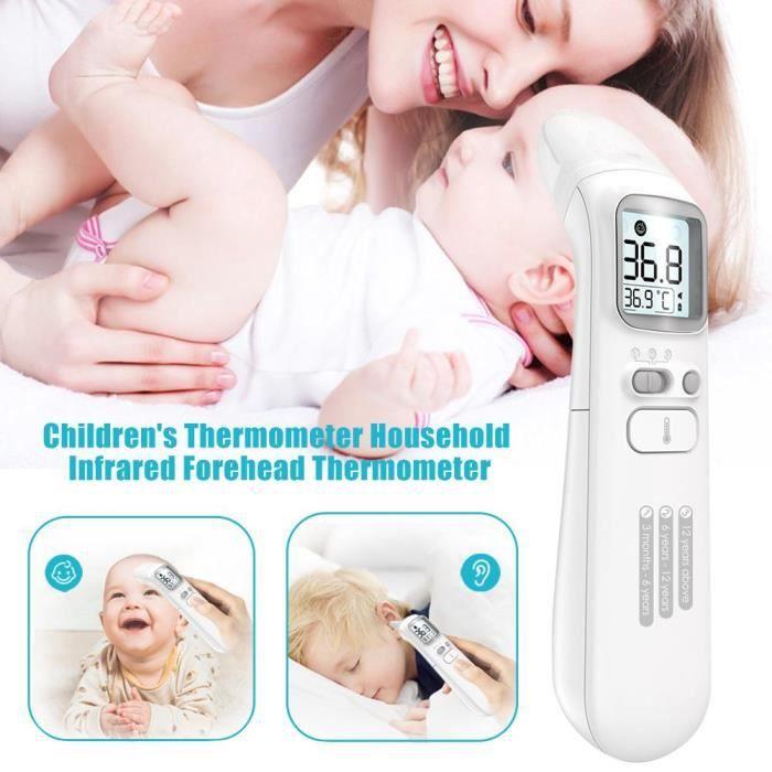 Thermomètre frontal infrarouge de température d'affichage à cristaux liquides de ménage pour le thermomètre infrarouge de bébé