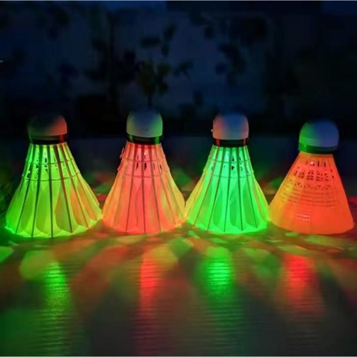 8 pcs Volant badminton,Balle de Badminton Volant LED