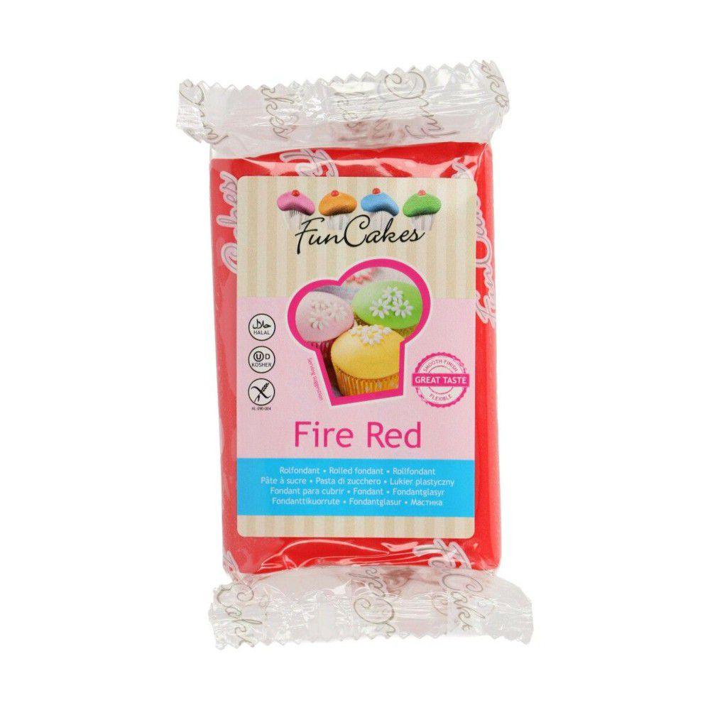 Pate à sucre 250g FunCakes Rouge