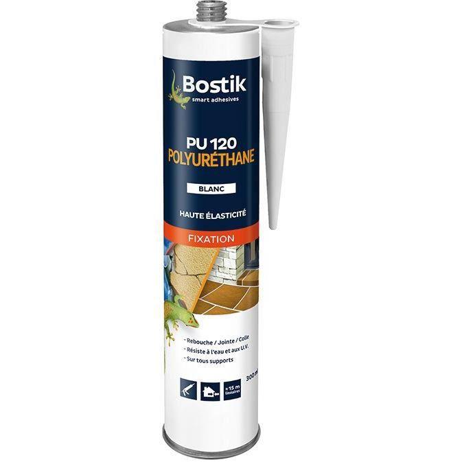 Colle mastic fixation pro PU 120 blanc - cartouche 300 mL