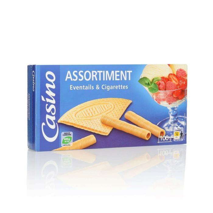 Biscuits Assortiment éventails et cigarettes 100 g