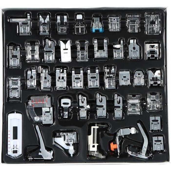 42 pcs Professionnel Machine À Coudre Domestique Pied Presseur Pièces de Rechange Accessoires pour Frère Chanteur