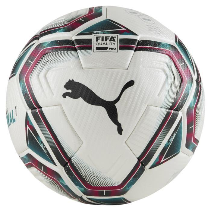 Ballon Puma Final 1 Fifa Quality Pro - blanc/rose rouge/bleu clair - 37 cm