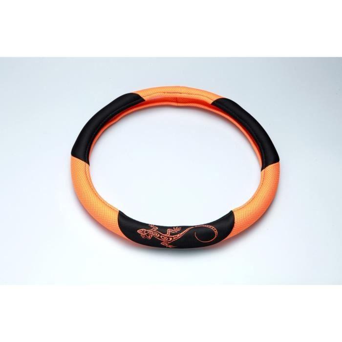 Couvre Volant -Reptilia- Orange
