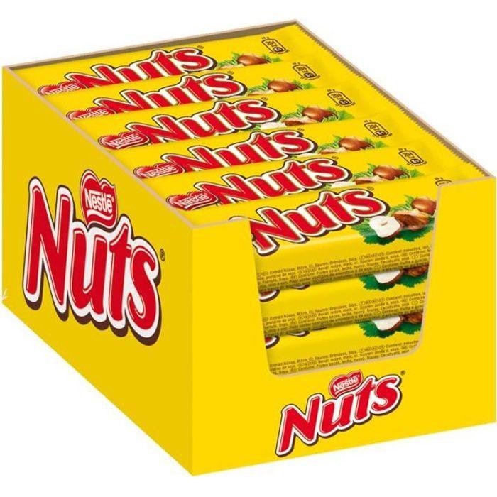 Nestlé Nuts, bars, chocolat, 24 barres