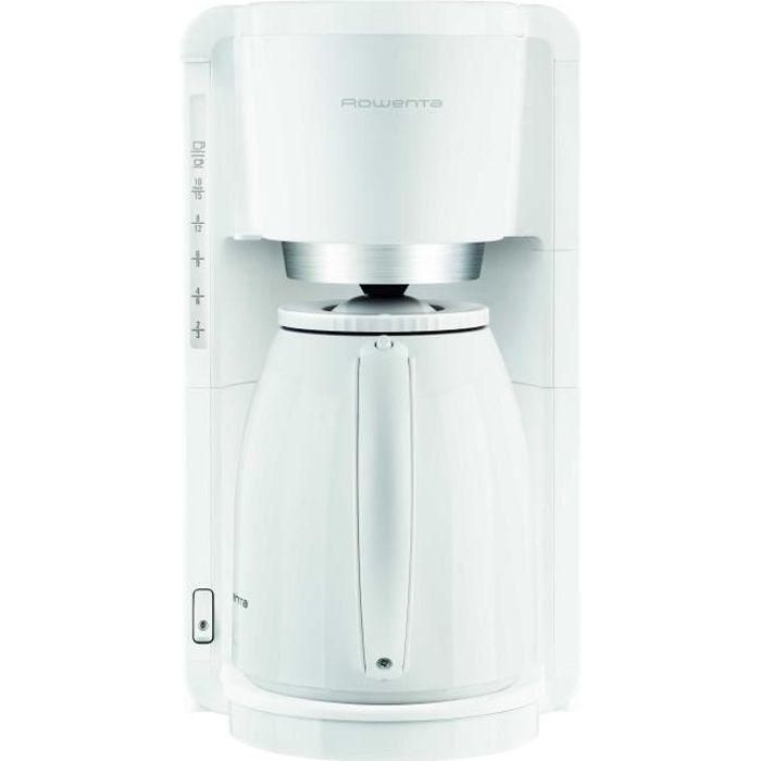 ROWENTA CT380110 Cafetière filtre avec verseuse isotherme Adagio - Blanc