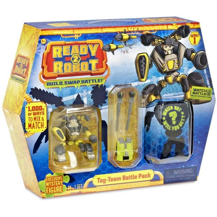 SPLASH TOYS - 1 Capsule Ready2Robots Battle Pack Tag Team - 4 surprises