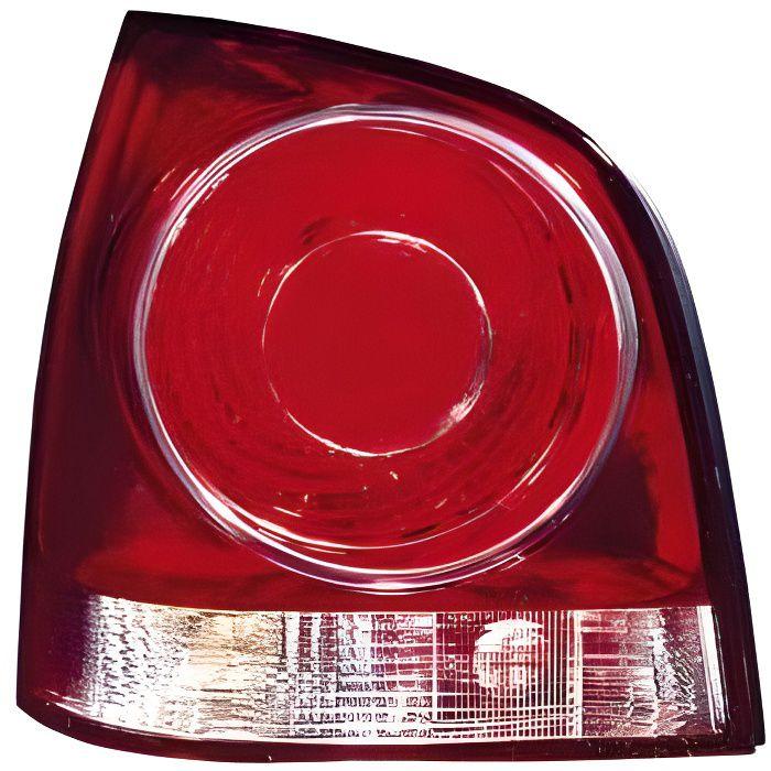 Feu arrière gauche VOLKSWAGEN POLO IV de 2005 à 2009, fond rouge, Neuf.