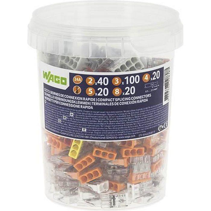 WAGO - Pot de 200 bornes de connexion automatique S2273 2,3,4,5, et 8 entrées