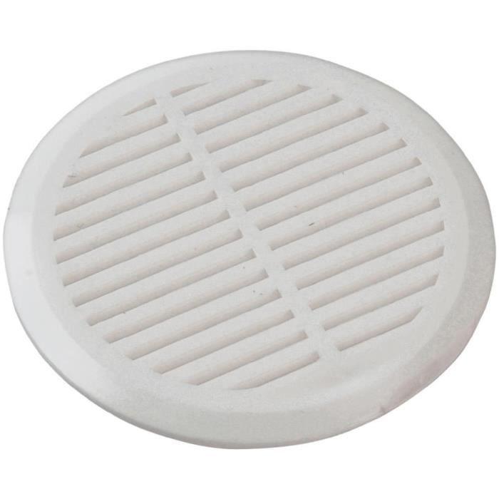 Grille de ventilation arrondie 50 mm blanche (x4)