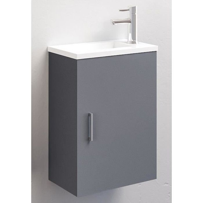 Ensemble Meuble Lave Mains Ancoflash Anconetti Gris Anthracite