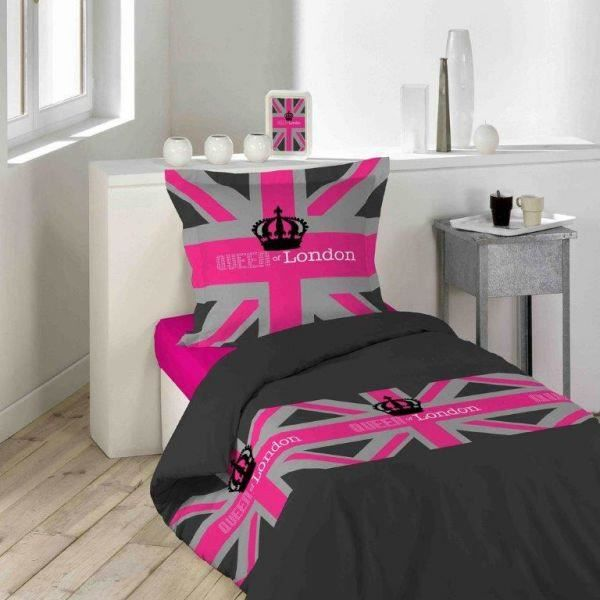 Housse de couette 140x200 cm london girl 1 taie d for Housse de couette london 1 personne