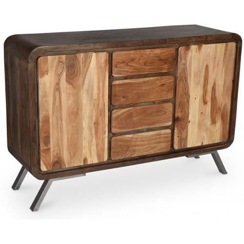 buffet design en bois recycl style industriel jason. Black Bedroom Furniture Sets. Home Design Ideas