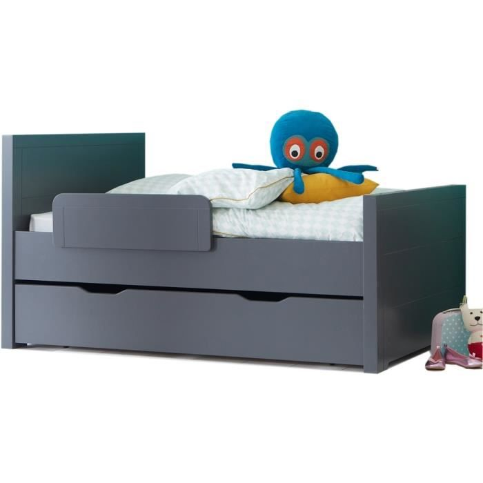 pack lit volutif enfant 3 longueurs avec tiroir ardoise oscar et emma achat vente lit. Black Bedroom Furniture Sets. Home Design Ideas