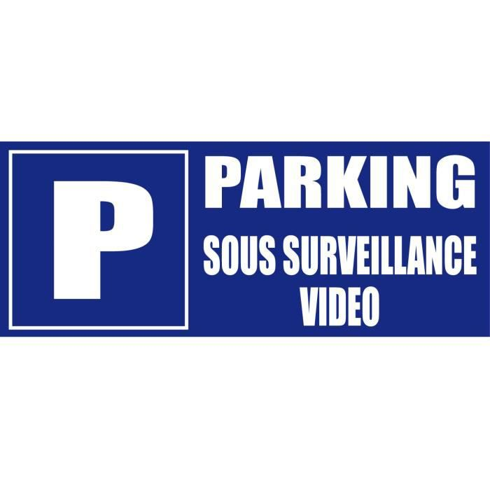 panneau parking sous surveillance video achat vente panneau ext rieur panneau parking. Black Bedroom Furniture Sets. Home Design Ideas