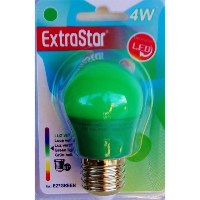 AMPOULE - LED Ampoule LED VERT E27 a visse basse consommation 4W