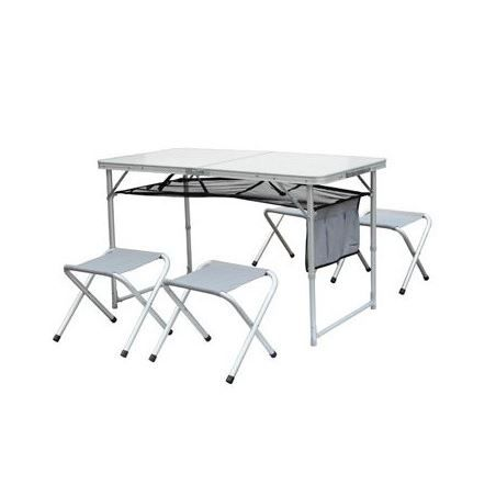 Table pliante camping 4 tabourets otano achat vente for Table a carte pliante