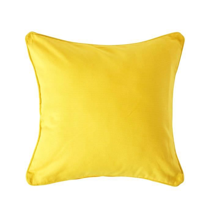 coussin d houssable jaune 60 x 60 cm achat vente housse de coussin cdiscount. Black Bedroom Furniture Sets. Home Design Ideas