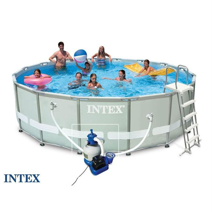piscine ultra frame intex 4 88x1 22m filtre sable achat vente piscine piscine ultra frame. Black Bedroom Furniture Sets. Home Design Ideas