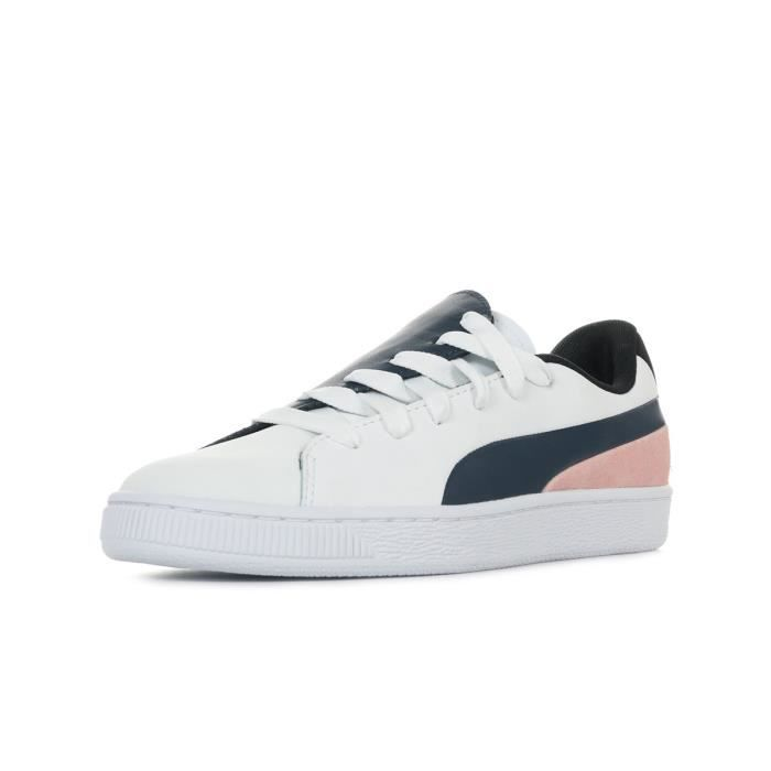 MarineRose BlancBleu Baskets Paris Puma Crush Wn's Blanc Basket hrxotCBsQd