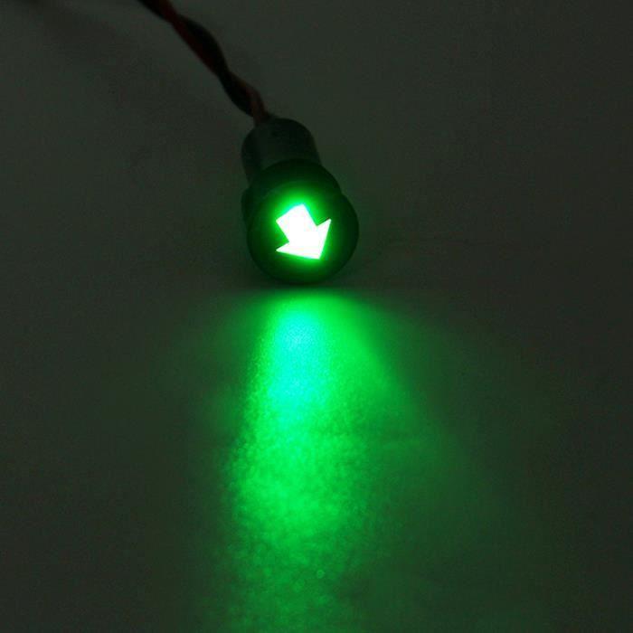 12V 12mm LED Indicator pilote dash avertissement panel voyant pour feux davertissement de voiture Lampe /à huile, Rouge