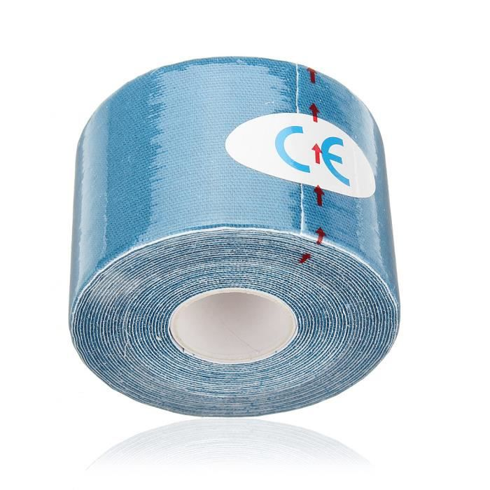 LAVENT Rouleau Rollen Kinesiologie Tape 5m x 5cm Kinesio-Taping Kinesiology Elastique Bleu