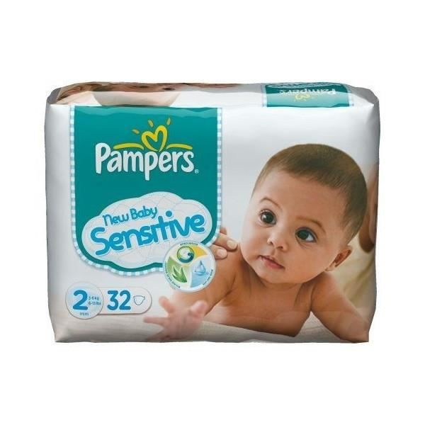 Pampers new baby sensitive mini taille 2 32 c achat vente couche 4015400611387 cdiscount - Couche pampers new baby taille 2 ...