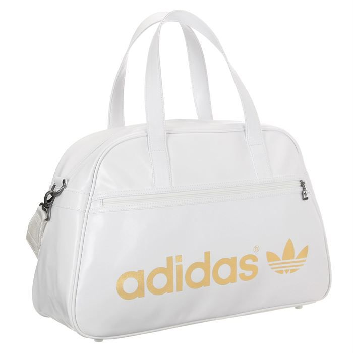 adidas original sac de sport blanc et or achat vente sac bowling adidas original sac de. Black Bedroom Furniture Sets. Home Design Ideas