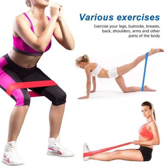 /étirement protection Bandes /élastiques Bandes dexercice Id/éal pour am/éliorer la mobilit/é la musculation et le yoga pilates