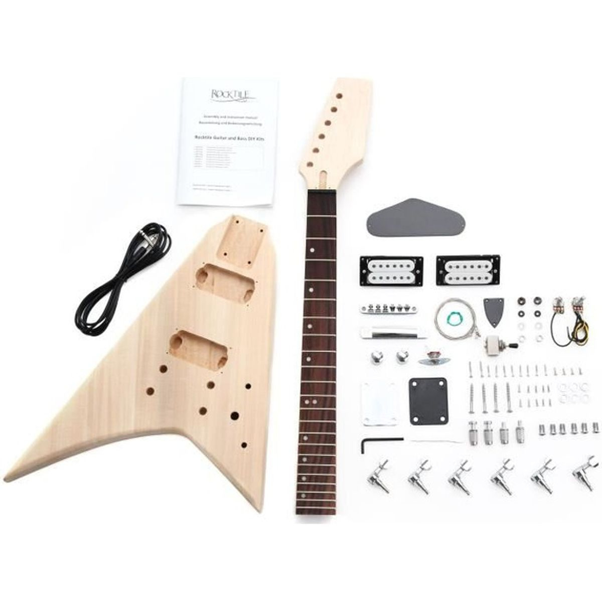 rocktile diy kit de construction guitare electrique style st