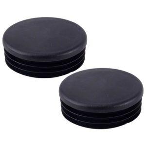 POUTRE - DÉCO PLAFOND 2pcs bouchon de trou de cadre noir bouchons tube v