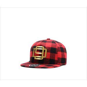 CASQUETTE plaqué or logo rouge écossais plat casquette hip h