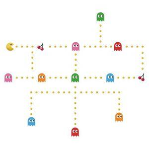 OBJET DÉCORATION MURALE decalmile Pac Man Stickers Muraux Chambre Enfants