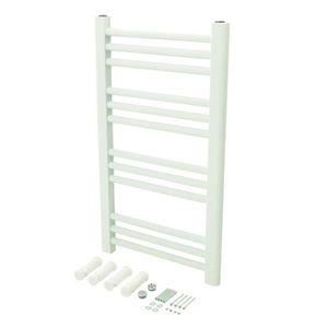 SÈCHE-SERVIETTE ÉLECT Radiateur sèche-serviettes blanc 700 x 400 mm - Ro