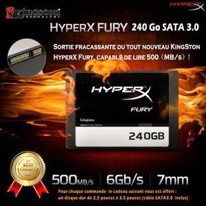 DISQUE DUR SSD LCC® HyperX FURY - Disque dur Interne Gaming SSD 2