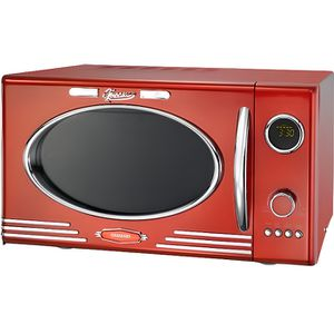B.BAD 70120 Grill Micro-ondes rond Noir//Rouge