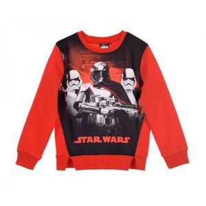SWEATSHIRT Star Wars Sweat-shirt garçon - Pull Garçon ROUGE