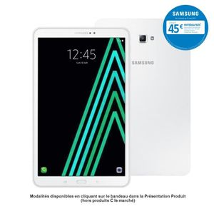 TABLETTE TACTILE Samsung Galaxy Tab A6 - SM-T585NZWAXEF - 10,1'' WU