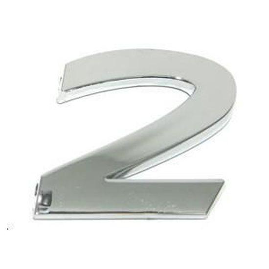CHIFFRE AUTOCOLLANT RELIEF CHROME 2