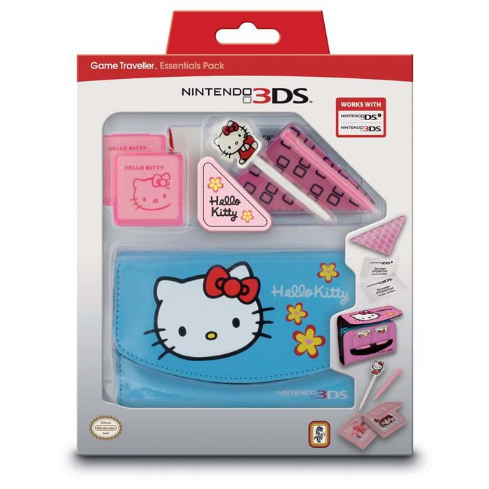 PACK ACCESSOIRE PACK 8 ELEMENTS HELLO KITTY BLUE 3DS - HKEP60BLUE
