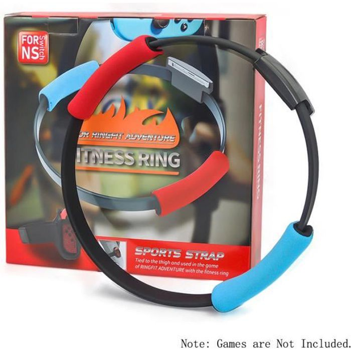 Compatible avec Nintendo Switch Joy-con Ring Fit Adventure Game Réglable Elastic Leg Strap Sport Band Ring-Con Grips Leg