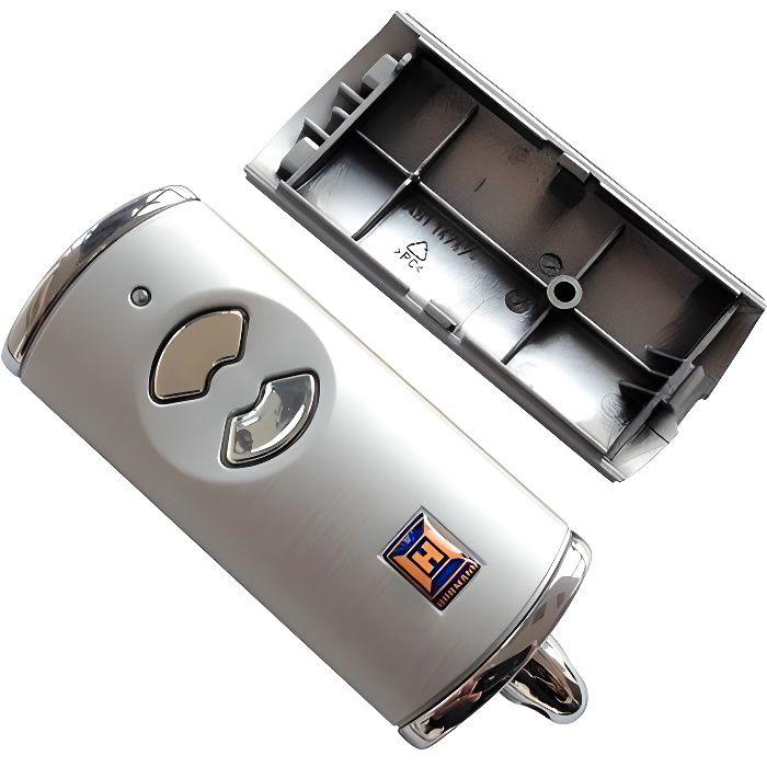 Boîtier de rechange Hörmann HSE2BS - Avec coque supérieure et inférieure - Vide - Sans pile ni platine - Aspect argent - Pour éme